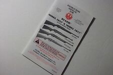 Ruger 10/22 and 10/17 Autoloading Rifle Original Manual 17Hmr 22lr-FREE SHIPPING