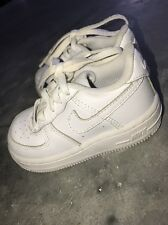 Nike Air Force 1 White Athletic Shoes 314194-117 Infant Toddler Size 6 6C