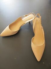 NUDE SLING BACK KITTEN HEELS NINE WEST 9M