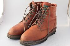 LUCCHESE Sport Brown Leather Work & Casual Boots 8.5 D USA Medium AMAZING