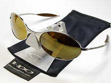 OAKLEY E WIRE CHROME GOLD SONNENBRILLE SQUARE TAILEND WHISKER PROBATION MARS T A
