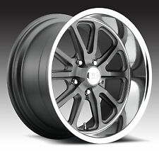 "CPP US Mags U111 Rambler Wheels Rims, 20x8"" front + 20x9.5"" rear, 5x5"", GRAY"