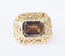 14K Yellow Gold R. Klein KLJCI Slide Bracelet Charm Smoky Topaz