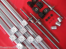 3 set SBR16 linear rail ballscrew RM1605-350/900/1150mm+BK/BF12 end bearing CNC