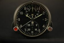 Russian Soviet USSR Military AirForce Aircraft Cockpit Clock AChS-1 GOOD!