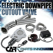 """2.5"""" JDM Turbo Exhaust Header Electric E Cutout Valve+Remote Switch"""