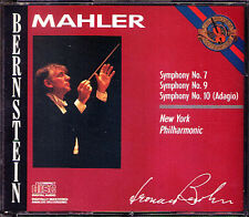 Leonard BERNSTEIN: MAHLER Symphony No.7 9 10 Adagio CBS 1986 3CD New York Phil