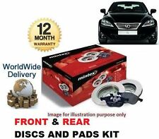 FOR LEXUS IS200D IS220D 2005  FRONT + REAR BRAKE DISCS SET & DISC PADS KIT