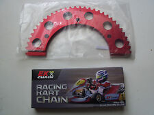 "EK Black Racing Kart Chain, #35 106 link 40"" and 56T #35 Sprocket"