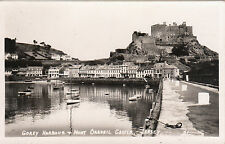 The Harbour & Mont Orgueil Castle, GOREY, Jersey, Channel Islands RP