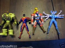 MARVEL XMEN sunfire spiral MORE 4 to 5 INCH 4 LOT ACTION FIGURES