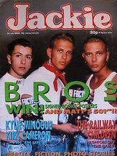 JACKIE MAGAZINE 12/11/88 - BROS - KYLIE MINOGUE - KIRK CAMERON