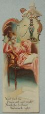 MINT 1901 WELBACH CELLULOID ADVERTISING BOOKMARK A REALLY PRETTY OLD BOOKMARK