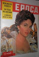 EPOCA 6 settembre 1953 Gina Lollobrigida Omicidio Cavallero Coppi Fides Bardine