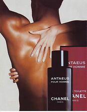 PUBLICITE ADVERTISING 1988 CHANEL Antaeus pour homme