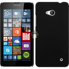 Black Hard Plastic Back Matte Case Cover Skin For Microsoft Nokia Lumia 640 LTE