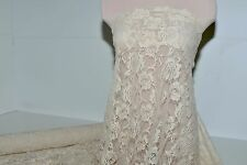 STRETCH LACE FABRIC  LIGHT  NUDE 4 WAY BRIDAL, FORMAL, PAGEANT, LEGGINGS