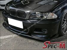 H Type Carbon Fiber Front Bumper Lip For 01-06 BMW E46 3-Series M3 Only 2Dr