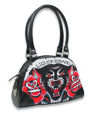 Liquor Brand Damen BLACK PANTHER Handtasche/Bag.Tattoo,Pinup,Biker,Custom Style