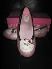 Hello Kitty WEDDING BRIDAL SHOES FLATS UK 6 SANRIO PUMPS KAWAII COSPLAY CUTE pin