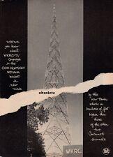1962 Wkrc Cincinnati Radio Station Tower 'Obsolete' Print Ad