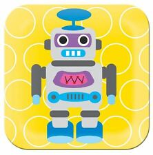 NEW FRENCH BULL KIDS PLATE ROBOT SERIES BPA FREE MELAMINE FOODS FEEDING YELLOW