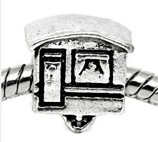 Camper RV Mobile Home Camping Trip Bead for Silver European Style Charm Bracelet