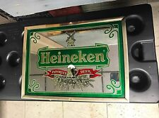 Heineken beer mirrored sign Man Cave Bar Ad