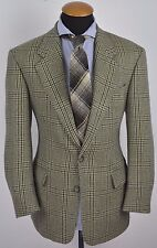 Hugo Boss Mens Blazer size 40R Slim Prince of Wales Elbow Patches Wool Cashmere