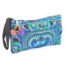 Blue Hmong Bag Hill Tribe Clutch Thai Handmade Handbags Hippie Ethnic Purse