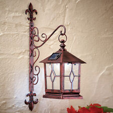 Decorative Coach-style Solar Powered Lighted Wall Lantern Garage Doorway Decor