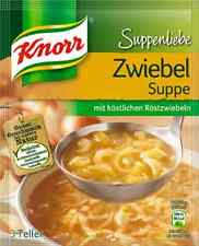 7 x Knorr Zwiebelsuppe ( Onion Soup ) Soups with fried onions from Germany New