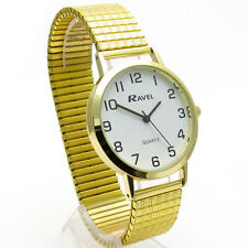 Ravel Gents Super-Clear Quartz Watch with Expanding Bracelet Gold 25 R0201.02.1