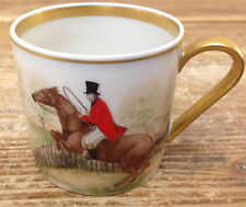 Fairwood Germany 282 Demitasse Cup Boehm The Hunt Prepping to Jump Fence Horse A
