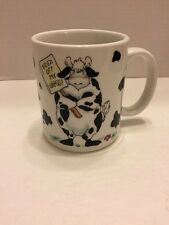 Keep Off My Grass Cow With Message BrushCreek Mug/Cup Cute