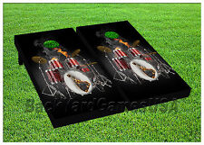 VINYL WRAPS Cornhole Boards DECALS Drum Set Bag Toss Game Stickers 798