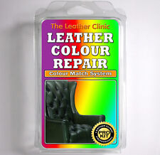 DARK GREEN Leather Dye Colour Repair Kit for Scratched & Worn Leather