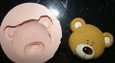 SILICONE MOULD TEDDY BEAR HEAD CHRISTENING CUPCAKE CAKE RESIN FIMO POLYMER CLAY