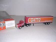 """CON-COR #1102  Kenworth 10 Wheel Cab w/45' Box Trailor """"Gatto"""" Built-up H.O.Ga."""