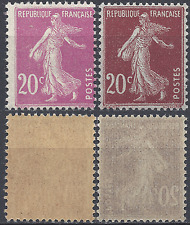 FRANCE TYPE SEMEUSE N°139 + N°190 NEUF ** LUXE GOMME D'ORIGINE MNH