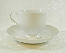 MIKASA FINE CHINA CLASSIC FLAIR WHITE CALLA LILY CUP & SAUCER SET