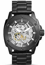 Men's Fossil Modern Machine Automatic Black Steel Watch ME3080