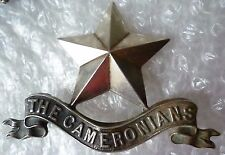 Badge- The Cameronians (Scottish Rifles) Pipers Badge (WM,100% Org) 2 LUG
