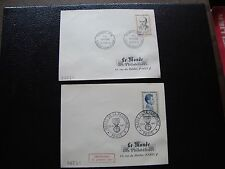FRANCE - 2 enveloppes 1er jour 1961 (paul gateaud/lionel dubray) (cy96) french