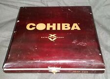 "COHIBA XV 749 EMPTY CIGAR WOOD BOX DOMINICAN REBUBLIC - 9.5"" x 9.5"""