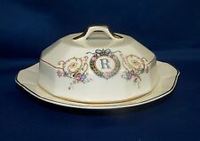 "FRENCH CHINA CO. ( F.C Co.) MARTHA WASHINGTON  CHEESE DISH  ""R"" MONOGRAM"