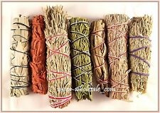 SET of 7 Sage Smudge Stick SAMPLER Blue, Red, White, Desert Dragons blood, Cedar