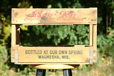 Old Vintage Bon Ton Beverages Waukesha Wooden Bottle Crate Box Wisconsin Soda Ad