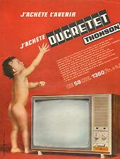 Publicité Advertising 1966  DUCRETET THOMSON  téléviseur 59 cm le T 5153