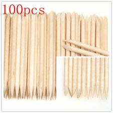 Orange Wood Stick 100Pcs Nail Art Cuticle Pusher Tool Remover Pedicure Manicure